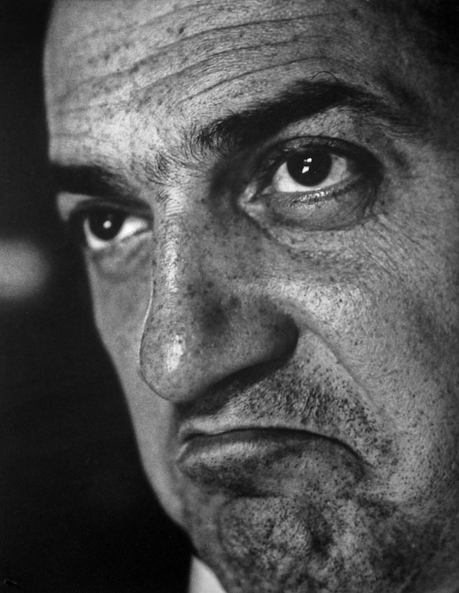 Federico Fellini, 1958. Photo by Cornel Lucas.